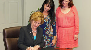 Pat Brister Signs DSP Proclamation