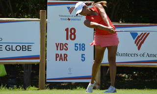 Cheyenne Woods Tees Off for the 18th Hole