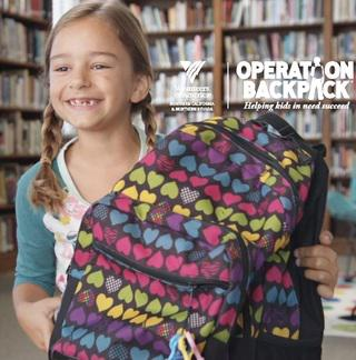 Operation Backpack school supplies for at-risk children