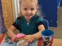 Little girl celebrating her birthday