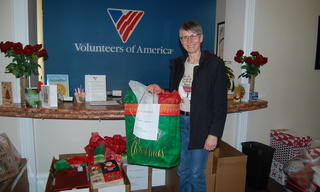 A big thank you to Robin, from Dawson, for her team's generous donations to Adopt-a-Family.