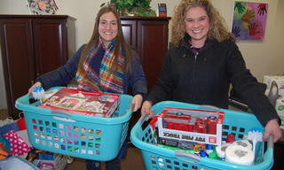 Stacey and Erin from the Hilton in Polaris donated housewarming gifts to veterans in need.