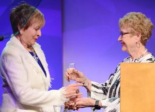 Paula Hart receives the Jean Harris Award
