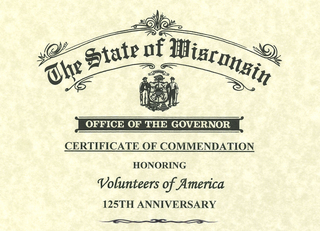 Gov Evers proclaims March 8, 2021 as Volunteers of America Day in Wisconsin