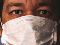 Image of a masked health care worker