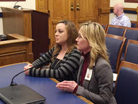 Crystal & Shannon testifying in favor of senate bill 446 - providing treatment for addicted pregnant moms.
