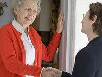 checking in on a senior resident