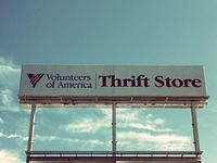 thrift store shopping sign