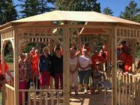 Home Depot Volunteers and Residents on Gazebo
