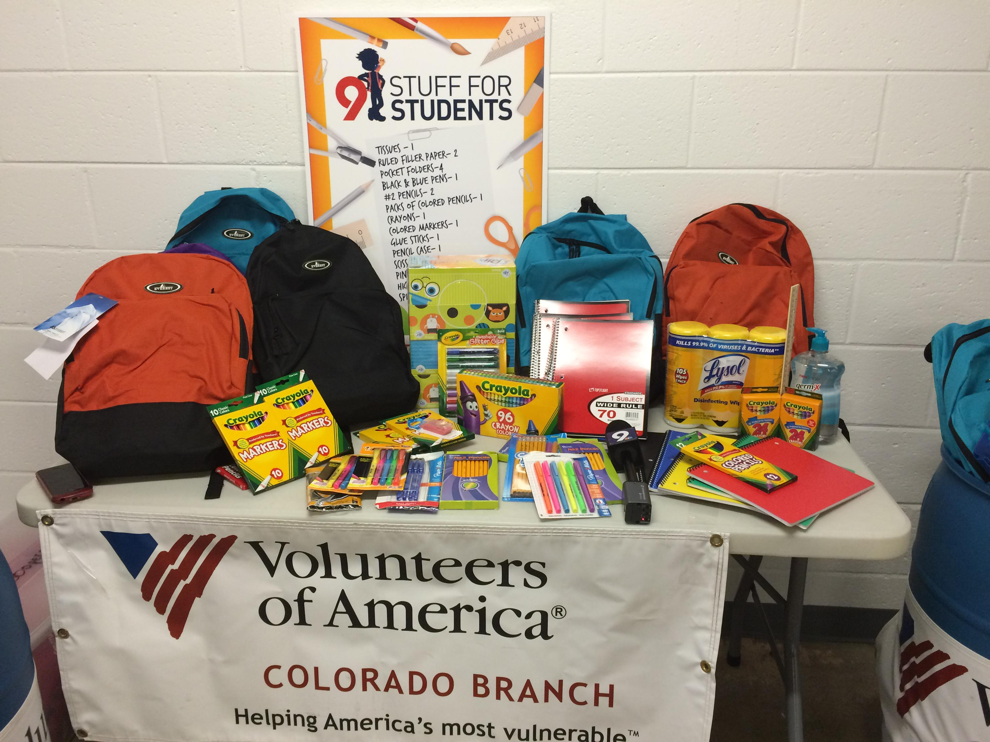 Stuff for Students | News and Events | Volunteers of America