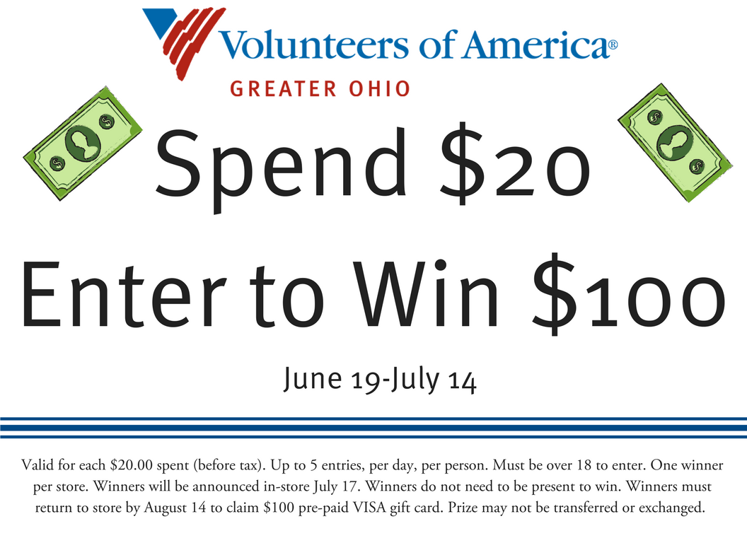 Spend $20, Enter to Win $100