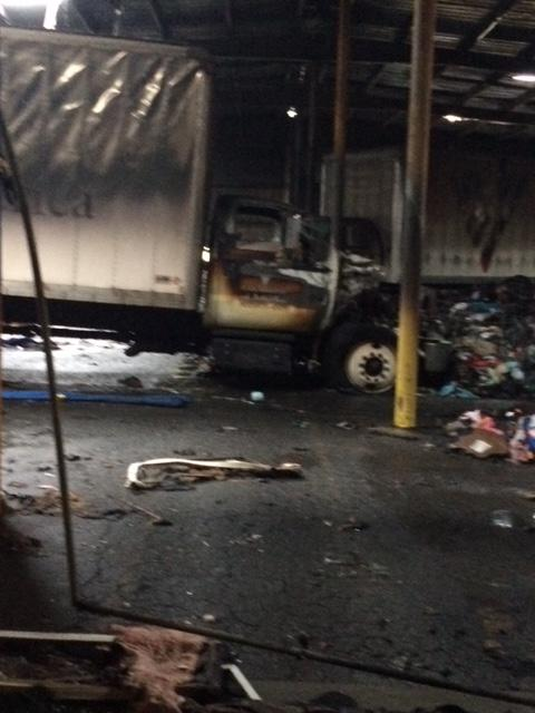 Fire burns warehouse containing donations to Volunteers of ...