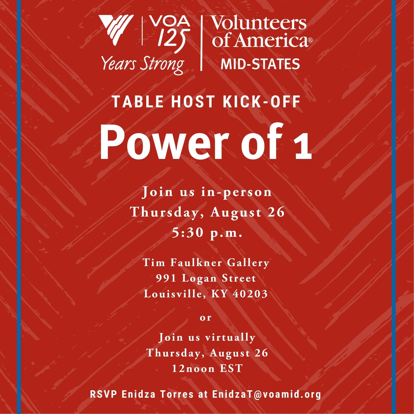 Table Host kick off event in person