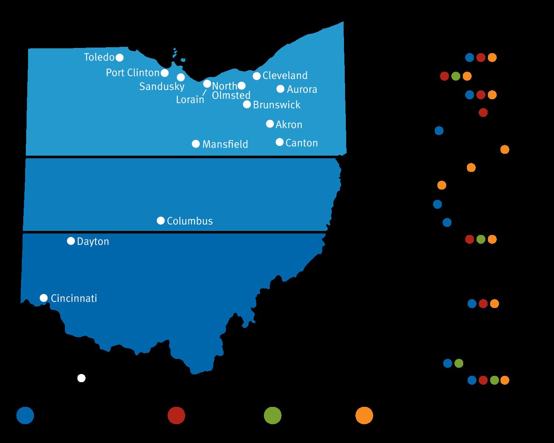 Ohio Service Locations at Volunteers of America Ohio & Indiana