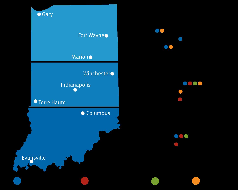 Indiana Service Locations at Volunteers of America Ohio & Indiana