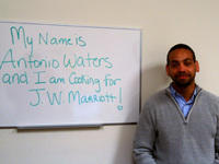 Antonio Waters - homeless veteran and resident of Brandon Hall